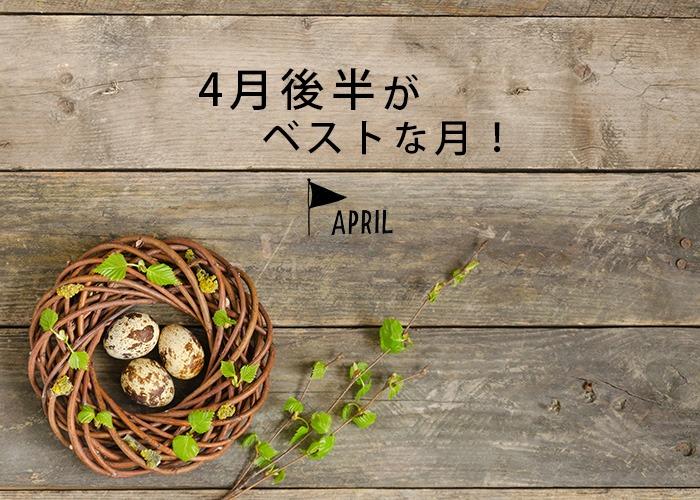 4月後半がベストな月!